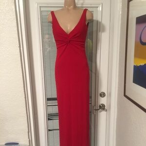 LAUNDRY Shelli Segal RED Jersey column DRESS 2